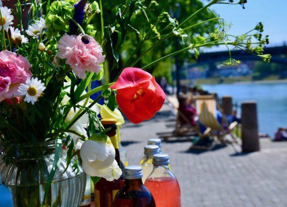 bar au bord du Rhin à Bâle