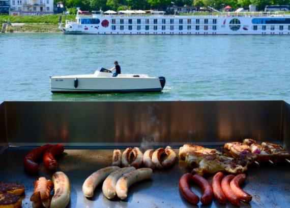 barbecue au bord du Rhin à Bâle