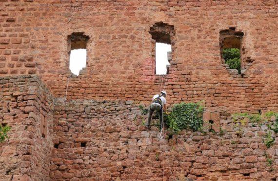 châteaux forts Alsace : atelier restauration